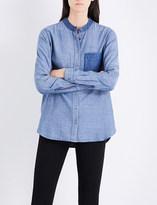 Closed Patchwork cotton-blend shirt