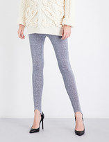 A.F.Vandevorst Skinny high-rise metallic lurex leggings