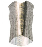 SILK NAT TOP WITH CHAIN-LINK PRINT