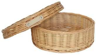 Medium Round Hat Box Wicker Basket