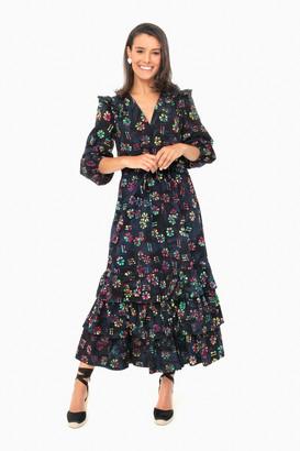 Warm Black Multi Astrid Dress