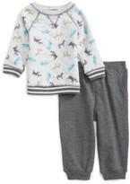 Little Me Infant Boy's Safari Print Sweatshirt & Jogger Pants Set