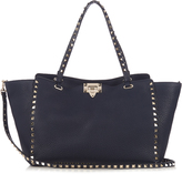 Valentino Rockstud grained-leather tote