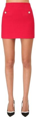 Alessandra Rich Tweed Button Mini Skirt W/ Crystals