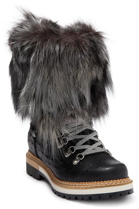 Montelliana Struzzo Genuine Fox Fur Winter Boot
