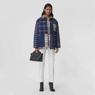 Burberry Quilted Check Cotton and Denim Overshirt
