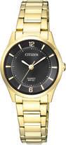 Citizen ER0203-85E Stainless Steel Quartz Dress Watch in Gold