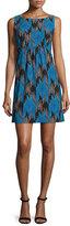 Milly Lyla Sleeveless Chevron-Print Dress, Azure