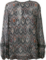Giambattista Valli geometric print blouse - women - Silk/Polyamide/Viscose - 48