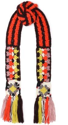 Missoni Metallic Crocheted Alpaca-blend Scarf