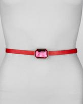 Kate Spade Jewel-Buckle Leather Belt, Pink