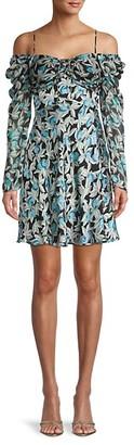 Diane von Furstenberg Floral-Print Mini Dress