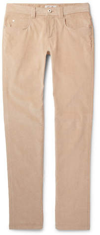 Loro Piana Slim-Fit Stretch-Cotton Corduroy Trousers - Men - Beige