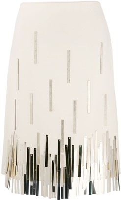 Lanvin Metallic Fringed Skirt