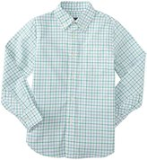 E-Land Kids Check Shirt (Toddler/Kid) - Parrot Green-3T