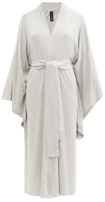 Norma Kamali Belted Modal-blend Jersey Robe - Light Grey