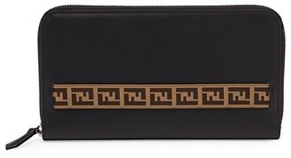 Fendi Grace Leather Travel Wallet