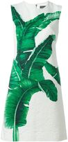 Dolce & Gabbana banana leaf print dress - women - Silk/Cotton/Spandex/Elastane - 40