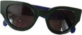 Celine Green Plastic Sunglasses