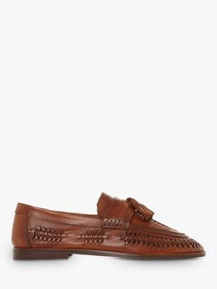 Dune Burlingtons Leather Woven Loafers