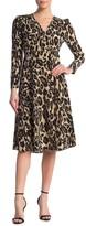 Diane von Furstenberg Viviana Animal Print Silk Midi Dress