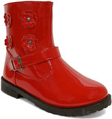 Jelly Beans Girls' Casual boots RED - Red Floral Peaceful Boot - Girls