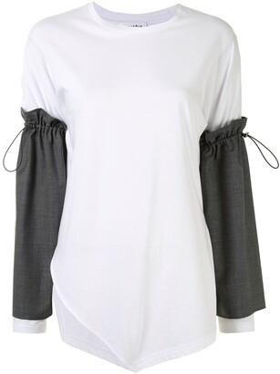 Enfold drawstring sleeve T-shirt