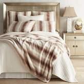 Pier 1 Imports Faux Fur Ombre Ivory Blanket & Sham