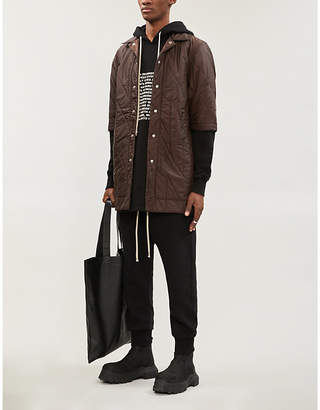 Rick Owens Quilted relaxed-fit shell shirt