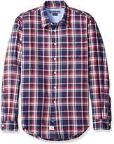 U.S. Polo Assn. Men's No Wrinkle Plaid Poplin Straight Point Collar Sport Shirt