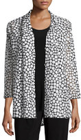 Caroline Rose Bubble Mid-Length Cardigan