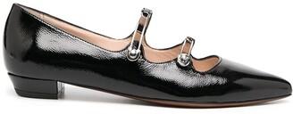 ALEXACHUNG Pin-Buckle Point Toe Ballerina Flats