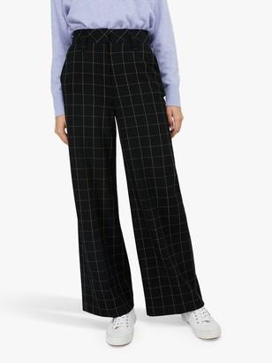 Monsoon Georgia Check Trousers, Black