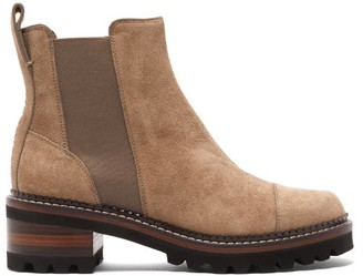See by Chloe Suede Chelsea Boots - Womens - Brown