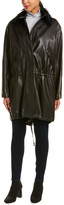 Helmut Lang Leather Parka