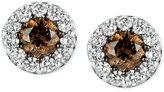 LeVian Le Vian® Chocolatier Diamond Stud Earrings (1 ct. t.w.) in 14k White Gold