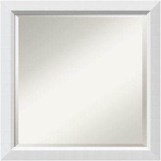 "Amanti Art Wall Mirror Square, Blanco White, Outer Size 24""x24"""