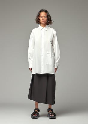 Y's by Yohji Yamamoto Women's Lower Pocket Button Down Blouse in White Size 2