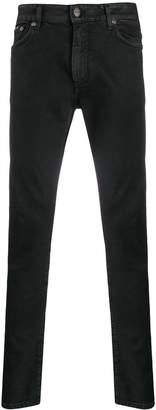Represent waxed-effect skinny jeans