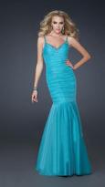La Femme Striking Trumpet Gown with Sweetheart Neckline 17508