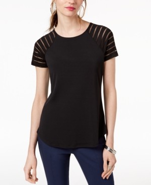INC International Concepts Inc Illusion-Sleeve T-Shirt, Created for Macy's