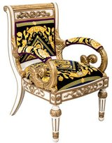 Versace Giltwood Arm Chair