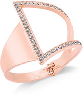 INC International Concepts Rose Gold-Tone Asymmetrical Crystal Cuff Bracelet, Only at Macy's