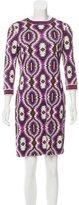 Tory Burch Silk Printed Mini Dress