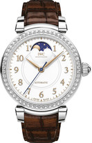 IWC IW459307 Da Vinci Automatic Moon phase 36 stainless steel and leather watch