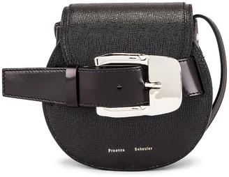 Proenza Schouler Mini Leather Buckle Crossbody Bag in Black | FWRD