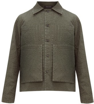 Craig Green Embroidered Puckered-canvas Jacket - Mens - Green