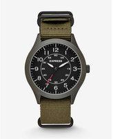 Express analog nylon strap watch