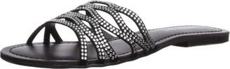 Madden-Girl Women's SUNDAAY Slide Sandal Black/Multi 9 M US