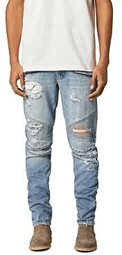 Hudson Biker Skinny Fit Jeans in Thrasher